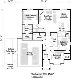 Build Your New Home in Wisconsi Price Point, Great Rooms, Ranch, New Homes, Floor Plans, Flooring, How To Plan, Bedroom, Building