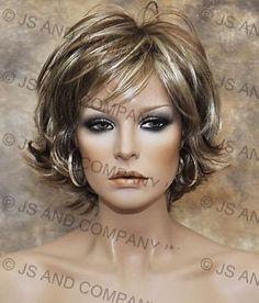 Wonderful-EveryDay-Short-N-Sassy-Style-wig-full-bangs-Blond-mix-NLLx-12-613