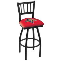 "Florida Panthers 25"" Wrinkle Swivel Bar Stool with Jailhouse Style Back - $199.00"