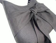 black bow purse