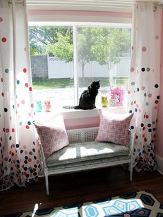 DIY Painted Drapes