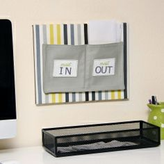 Wall mounted fabric mail organizer - this is definitely something I need!