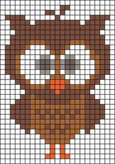 New crochet bookmark owl cross stitch Ideas Owl Patterns, Alpha Patterns, Bead Loom Patterns, Perler Patterns, Beading Patterns, Bracelet Patterns, Cross Stitch Owl, Cross Stitch Charts, Cross Stitching