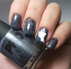 The Clockwise Nail Polish: Mollon Pro 197 Platinum Review & Ghost Nail Art
