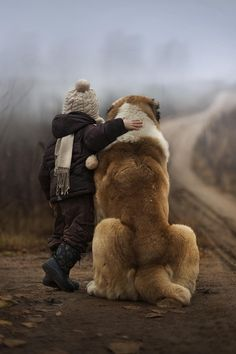 A boy and his dog.....true friendship <3