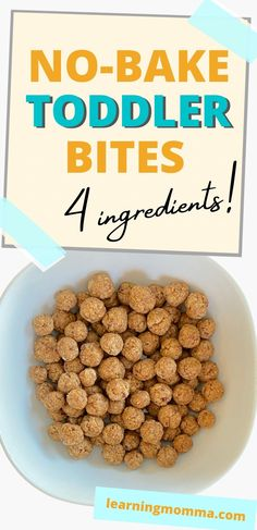 Healthy Toddler Oatmeal Bites