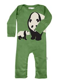 Another great find on #zulily! Green Panda Organic Romper - Infant by Wee Urban #zulilyfinds