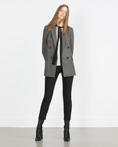Image 1 of SHIRT WITH CONTRASTING BOW from Zara