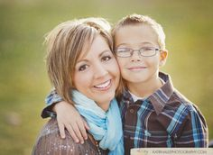 I LOVE this picture!  Moms and sons have special bonds!