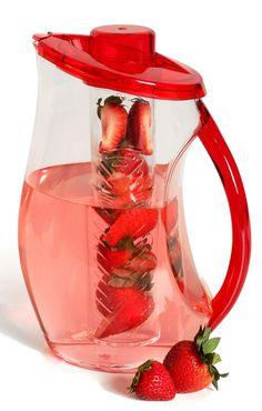 The best fruit infused water bottles and pitchers available. These infusers make creating flavored water recipes easier. Dishwasher safe and table ready.