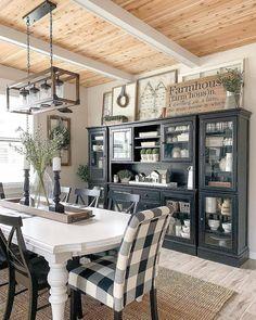 Farmhouse Style Kitchen, Farmhouse Interior, Modern Farmhouse Kitchens, Farmhouse Decor, Farmhouse Table, Rustic Kitchen, Kitchen Ideas, Kitchen Decor, Farmhouse Ideas