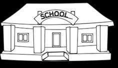 school building for coloring - Buscar con Google