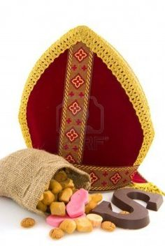 miter-from-dutch-sinterklaas-with-traditional-candy
