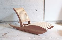 Learn how to make this DIY lounge chair. HomeMade Modern DIY Lounge Chair 1.0 Options