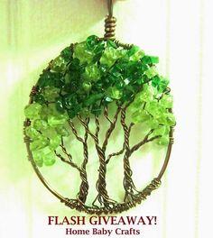 Wire tree of life grove. Wire Wrapped Jewelry, Wire Jewelry, Jewellery, Wire Earrings, Wire Wrapped Pendant, Beaded Jewelry, Handmade Jewelry, Wire Crafts, Jewelry Crafts