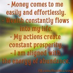 Daily Affirmations for Success and Money