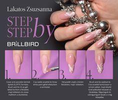 Lakatos Zsuzsanna, egy divat blogger számára, fotózásra készítette ezt a különlegesen elegáns, ELLIPTIC formájú körmöt.