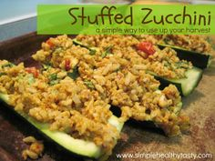 Simple. Healthy. Tasty: Stuffed Zucchini