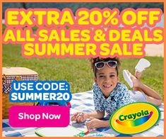 Crayola - BigJim's Info   CRAYOLA -  EXTRA 20% OFF ALL SALES AND DEALS All Sale, Summer Sale, Sewing Crafts, Craft Supplies, Coding, Games, Toys, Plays