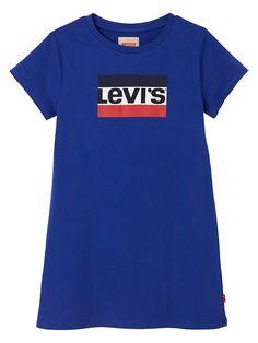Girls Short Sleeve Logo T-Shirt Dress - Blue Short Girls, Baby Wearing, Shirt Dress, T Shirt, Kids Girls, Blue Dresses, Short Sleeves, Skinny Jeans, Logo