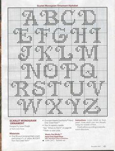 Another nice X-stitch alphabet