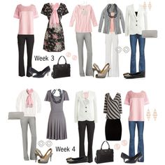 Work Capsule: Pink & Gray 3/4 by kristin727 on Polyvore featuring J.Crew, Paige Denim, New Look, Paul Smith, Tory Burch, rsvp, Kate Spade, OPTIONS, Accessorize and Murphy