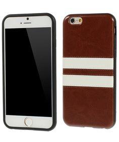Apple iPhone 6 Leather Skin TPU Case Bruin