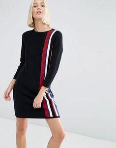ASOS | Трикотажное платье в вертикальную полоску ASOS