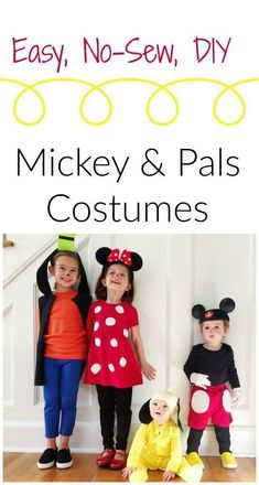 Here are 15 of our favorite easy DIY Halloween costumes for babies and kids. There are adorable baby Halloween costumes and Mickey And Minnie Costumes, Easy Disney Costumes, Mickey Mouse Halloween Costume, Diy Baby Costumes, Family Halloween Costumes, Halloween Diy, Costume Ideas, Halloween 2020, Couple Costumes