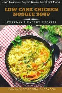 Low Carb Chicken Noodle Soup #chicken #noodles #soup #souprecipes #chickenrecipes #chickensoup #spiralizerrecipes #lowcarbrecipes #lowcarb #lowcarbdiet #healthyrecipes #easyrecipe