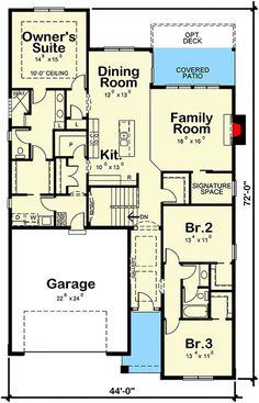 Open Concept Floor Plan For Ranch With Spacious Interior