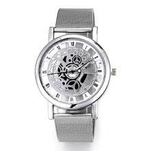 Carregar imagem no visualizador da galeria, Fashion watch men Skeleton Watch Men Stainless Steel Mesh Band Quartz Wristwatch Clock Relojes Mujer Reloj Hombre dropshipping
