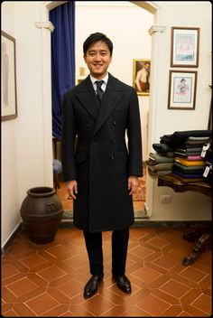 Liverano & Liverano navy coat - Alan See