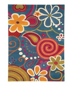 $5 Off when you share! Dynamic Rugs Fantasia 1704 Turquoise Rug | Kids Rugs #RugsUSA
