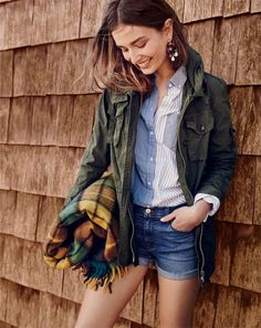 Our famous J.Crew field mechanic jacket—made of broken-in cotton, with FIVE ROOMY POCKETS designed to hold all your wrenches and sockets (aka your wallet and keys).