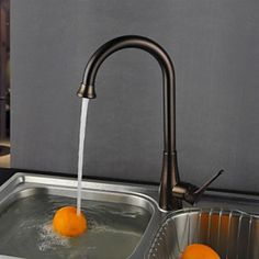 Deck Mounted Single Handle One Hole with Oil-rubbed Bronze Kitchen Tap