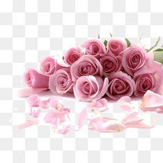 رومانسية باقة من الورود الوردي, ورد وردي, الزهور, تاناباتاPNG صورة