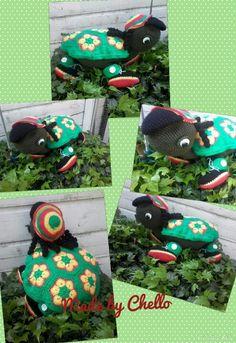 Shaggy de schildpad, patroon van marrot design