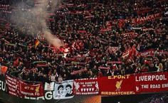 Travelling Kop in Dortmund. Liverpool Football Club, Liverpool Fc, You'll Never Walk Alone, Walking Alone, Europa League, Religion, Twitter, Travelling, Red
