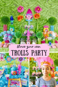 Get ready to celebrate the next big party trend of the year with a DreamWorks Trolls Party! /soireeevents/ shares Trolls party DIYs and recipes that will have fans of the Trolls movie smiling from ear to ear. Trolls Party, Trolls Birthday Party, 6th Birthday Parties, 4th Birthday, Birthday Ideas, Rainbow Birthday, Big Party, Party Time, Fete Emma