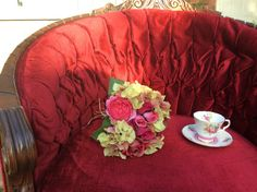 Hey, I found this really awesome Etsy listing at https://www.etsy.com/listing/193837960/the-scarlet-1960s-tufted-red-velvet-tub