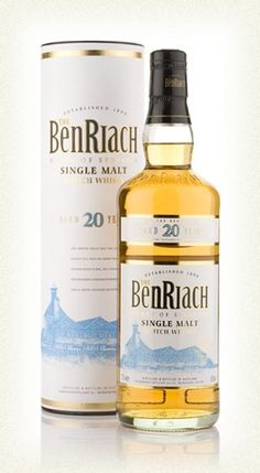 A Silver Medal winner at the 2006 International #Wine and #Spirits Competition and a #Gold Medal winner at the International Spirits Challenge a year prior, a superb 20 year old single malt #whiskey from BenRiach. £51.43