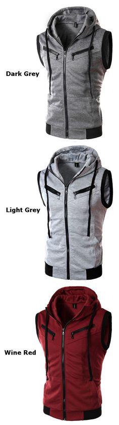 Mens Summer Casual Vest Fashion Sleeveless Hooded Vest http://www.99wtf.net/men/mens-fasion/smart-casual-men/