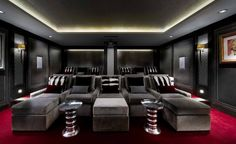 Basement Cinema | Courchevel 1850 | Interior Design Project, Luxury cinema interiors, home cinema design, Luxury London Interiors, residential interiors, contemporary residential interiors