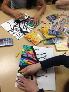 Good idea for art time with Fiona … ARTipelago: Beautiful Banyan Trees! Good idea for art time with Fiona … ARTipelago: Beautiful Banyan Trees! Middle School Art, Art School, Classe D'art, 4th Grade Art, School Art Projects, Fun Art Projects, Art Therapy Projects, Autumn Art, Pastel Art