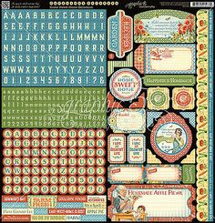 Graphic45 HOME SWEET HOME 12x12 Cardstock Sticker Sheet scrapbooking
