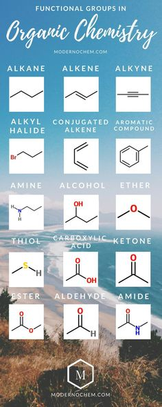 Functional groups in organic chemistry. That time all I talk about Chemistry Classroom, Teaching Chemistry, Science Chemistry, Science Education, Organic Chemistry Reactions, Chemistry Revision, Physical Chemistry, Forensic Science, Life Science