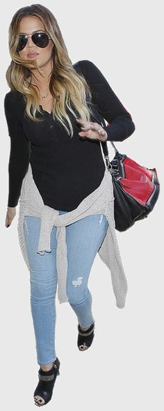 Khloe Kardashian's outfit. Find where to buy clothes that celebrities are wearing on WheresThatStyle.com!