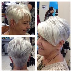 silver grey hairstyle