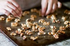Candied Walnuts Recipe {5 Minutes} Caramelized Walnuts, Caramelized Sugar, Candied Walnuts, Vegan Gluten Free, Vegan Vegetarian, Walnut Recipes, Silicone Baking Mat, Party Snacks, Recipes